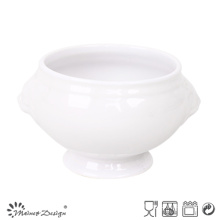 1500ml Ceramic Lion Header White Solid Glaze Mug