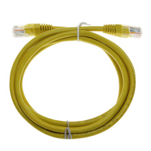 Custom yellow unshielded RJ45 cat6 network patch cord