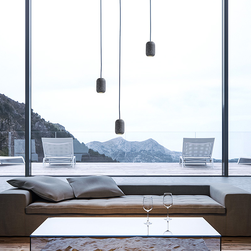 Decorative Concrete Pendant LampofApplication Light Bulb Pendant Chandelier