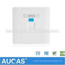 Aucas Marke rj45 Steckdose Faceplate Single Port Netzwerk Kabel Wandplatte