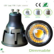 Regulable 7W GU10 COB LED Bombilla