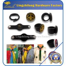 Woggle por encargo de la impresión del anillo del PVC de la bufanda Scout