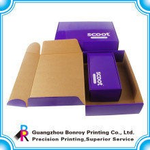 Caja corrugada de diferentes tamaños de encargo de la alta calidad con la manija