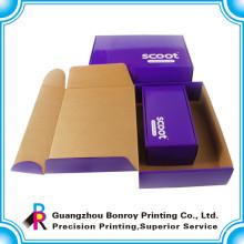 Коробка высокого качества изготовленный на заказ различный Размер CorrugatedShoes с ручкой