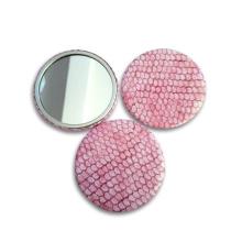 Telecome cadeau promotionnel bon marché porte-clés miroir de maquillage en métal