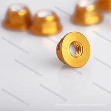 Silver Color Hexagon Nuts 4mm serrated wheel nut