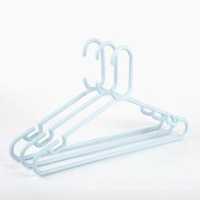 Best selling clothes hangers light blue plastic recyclable PP plastic coat hanger