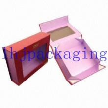 Caixa de chocolate empacotando luxuosa do empacotamento com janela e ímãs