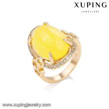 14727 xuping joyería 18k chapado en oro 2018 anillo de dedo de oro de diseño de moda para las mujeres