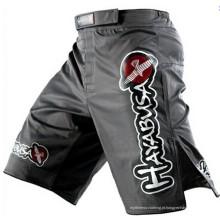 Alta qualidade personalizado poliéster trecho mma shorts