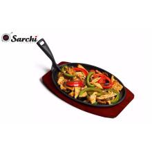Metal Peper almuerzo plato de hierro fundido plato chisporroteo