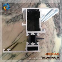 Type de profil en aluminium bon marché pour fabriquer des portes et fenêtres