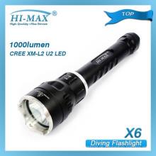 HI-MAX meistverkaufte 200m Bestrahlung Lotus Angriff Kopf Aluminium Tauchen Taschenlampe Fackel