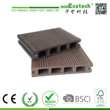 Tablero de cubierta compuesto hueco al aire libre Suelo de bambú cubierta plástica