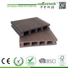 Decking plástico de bambu do revestimento composto oco exterior da placa do Decking