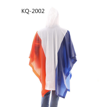 Poncho pvc drapeau national couture