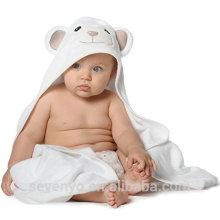 100% Bio-Bambus mit Kapuze Baby Handtuch und Waschlappen Set perfekt für Neugeborene, Säuglinge und Kleinkinder und Baby-Bad Zeit Ultra Soft
