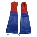 Red granular PVC raincoat with sleeve gloves 60cm