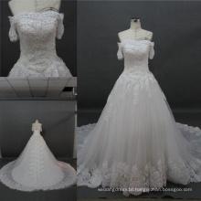 OEM China Wholesale off Shoulder Lace Beading Bridal Gown Wedding Dress 2017