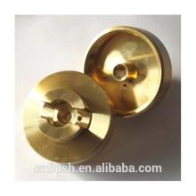CNC lathe turning parts custom fabrication service brass turning part