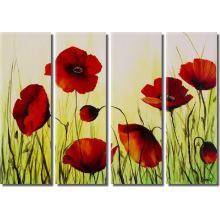 Peinture à l'huile de fleurs à la fleur de haute qualité