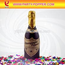 Champagne, bouteille, fête, popper, confetti, tireur