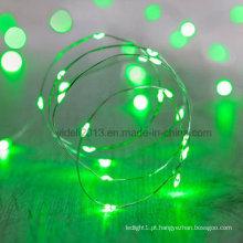 Luzes de microfibra 12V / Luzes de fada de fio de cobre LED operadas a bateria / Luzes de fio mini LED à prova d'água com fio de cobre