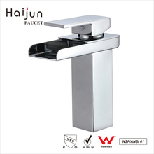 Haijun New Style 0.1 ~ 1.6MPa Square White Single Handle Basin Mixer Faucet