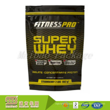 Factory Manufacturer Cheap Price Custom Design Aluminum Foil Stand Up Pouch For Whey Protein