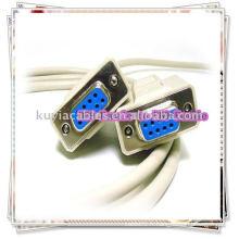 NULL MODEM SERIAL CABLE DB9F à DB9F