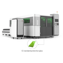 Máquina de corte a laser de fibra óptica para chapas de metal