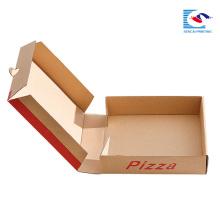 caja de pizza de papel de tamaño personalizado para envases de alimentos con logotipo propio