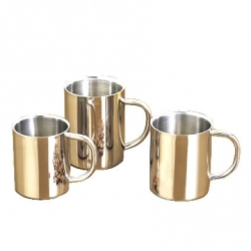 Insulated Shinny Stainless Steel Coffee Mugs With Handle