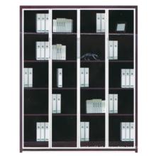 2015 novo design de madeira com biblioteca de vidro e metal