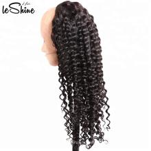 La mejor cutícula peruana de la peluca del pelo humano de Remy de la calidad del arte de la fábrica avanzada alineó precio al por mayor rizado profundo durable