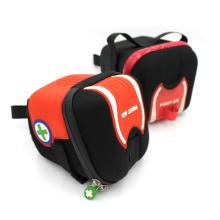 Personalize o saco de pacote de assento de sela de couro duro à prova de tempestade de bicicleta