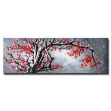 Peinture à l'huile à fleurs modernes peintes à la main à la main