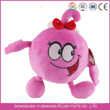 BSCI custom lovely soft toy 7 inch red embroidery cartoon character plush doll