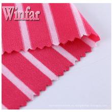 Textil Single Jersey Hilado Dye Spandex Tejido de poliéster