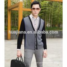 2015 fashion style men's 100% cashmere cardigan