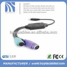 GOOD QUALITY USB AM TO PS / 2 CABLE