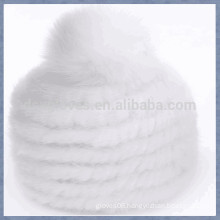 Various Color Sjort Mink Fur Cap With One Ball