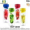 700ml atacado frutas infusor Tritan água garrafa, garrafa de infusão de fruta de plástico livre de BPA (HDP-0846)