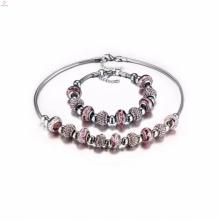 дамы обручальное из нержавеющей стали 316L Шарм браслеты ожерелье ювелирные наборы для женщин