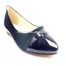 As mulheres quentes da cunha da venda 2014 calçam sapatas graciosas sapatas pretas da bailarina da sapata da sapata da bailarina