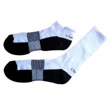 Calcetines de los deportes de Terry del algodón de los hombres para el funcionamiento (ASM-10)
