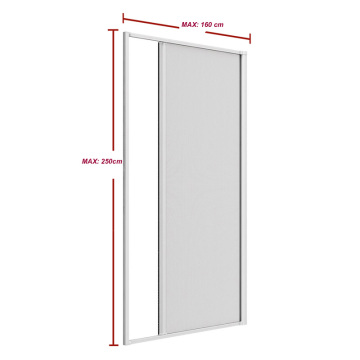 Retractable mosquito net for door rolling screen door