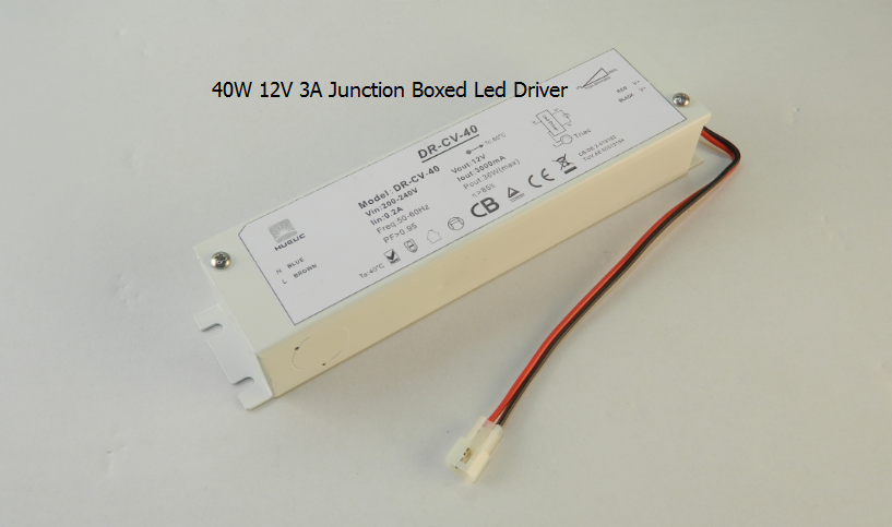 40W12V LED driver with metal Junction box