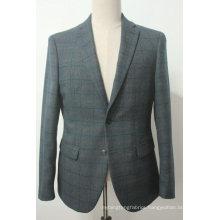 Men′s Tailored Fit Signature Textured Check Blazer