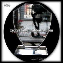 troféu de cristal em branco X092